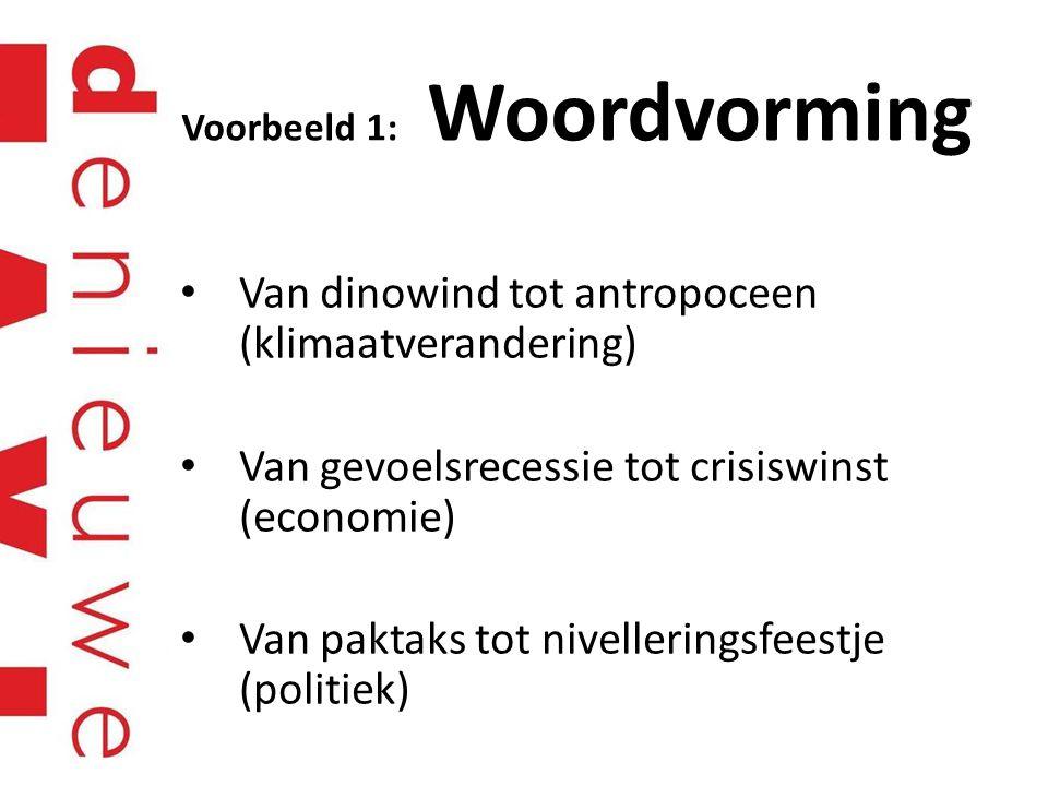 Voorbeeld 1: Woordvorming