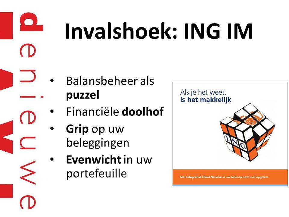 Invalshoek: ING IM Balansbeheer als puzzel Financiële doolhof
