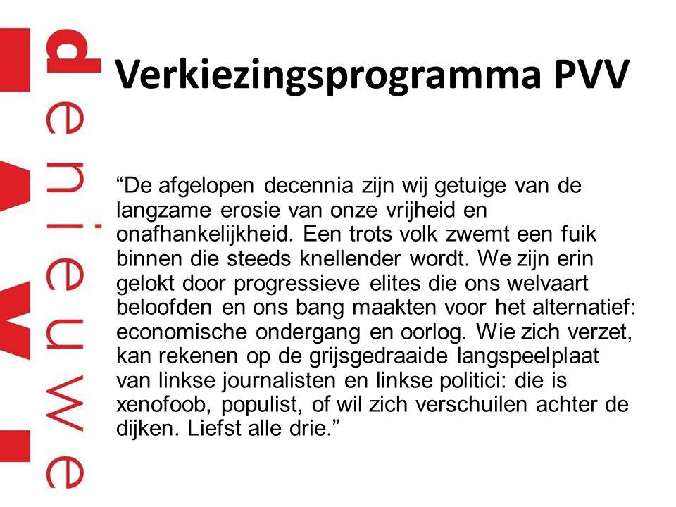 Verkiezingsprogramma PVV