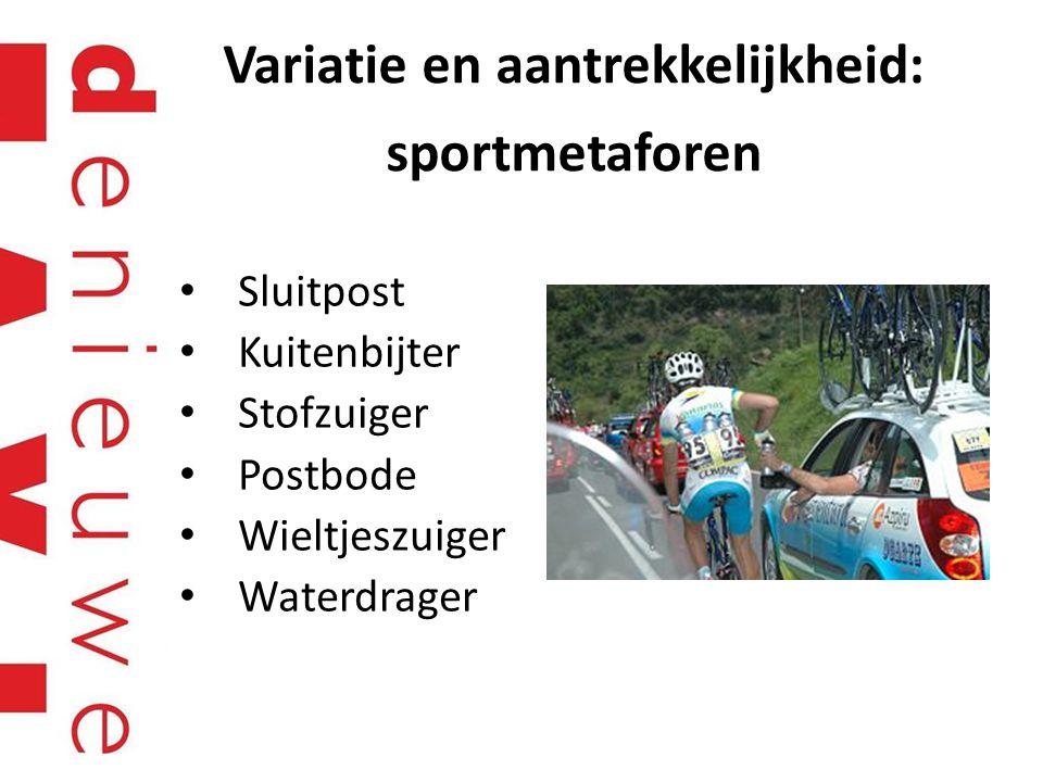 Variatie en aantrekkelijkheid: sportmetaforen