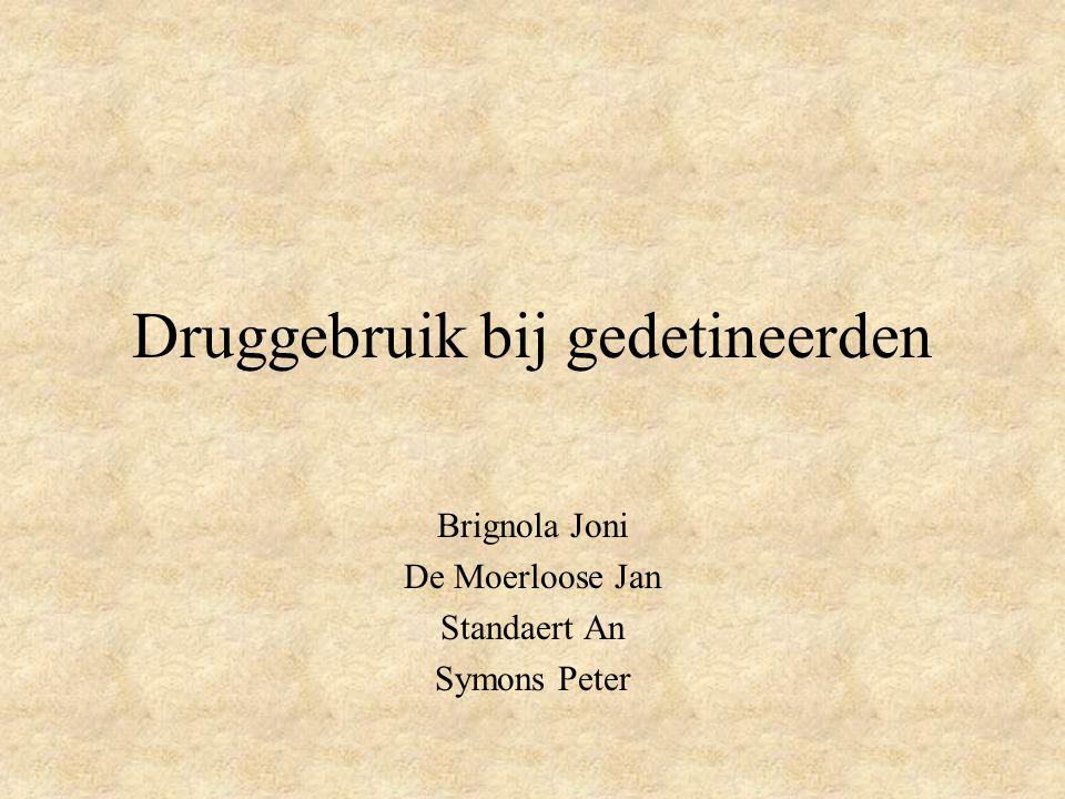 Druggebruik bij gedetineerden