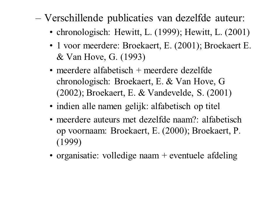 Verschillende publicaties van dezelfde auteur: