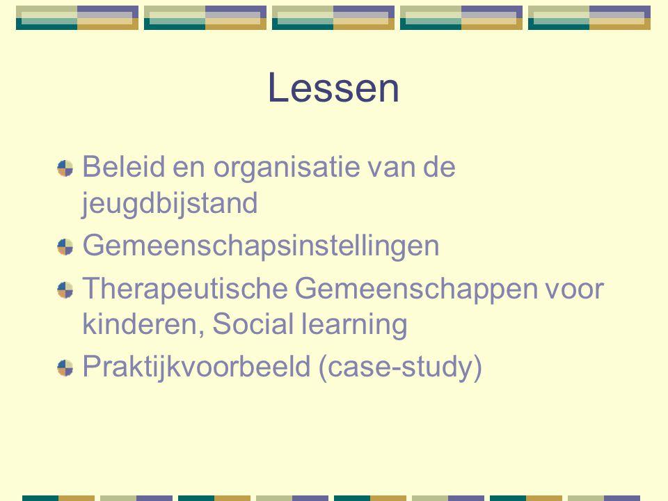 Lessen Beleid en organisatie van de jeugdbijstand