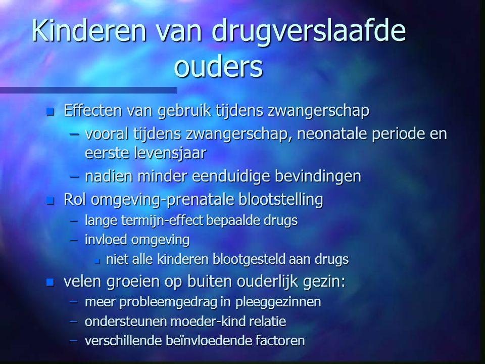 Kinderen van drugverslaafde ouders