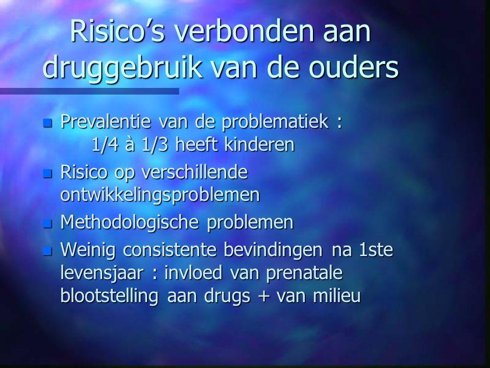 Risico's verbonden aan druggebruik van de ouders