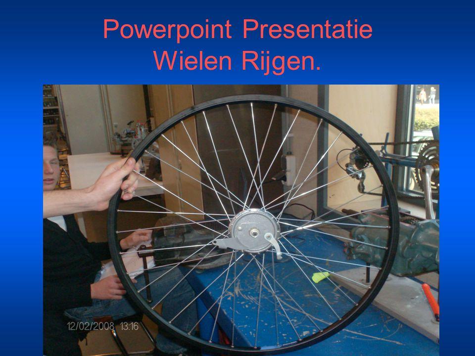 Powerpoint Presentatie Wielen Rijgen.