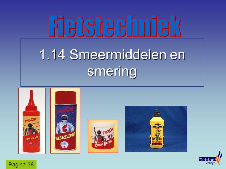 1.14 Smeermiddelen en smering