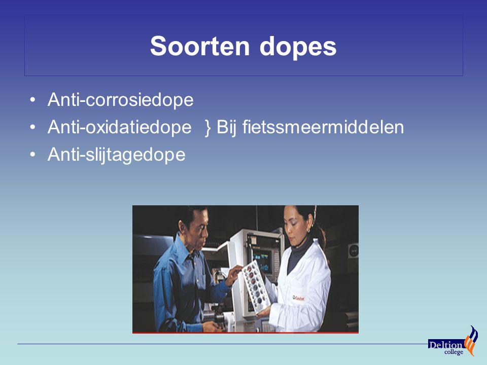 Soorten dopes Anti-corrosiedope