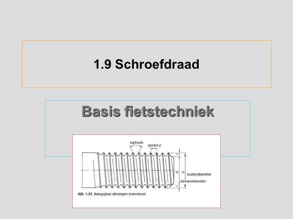 1.9 Schroefdraad Basis fietstechniek