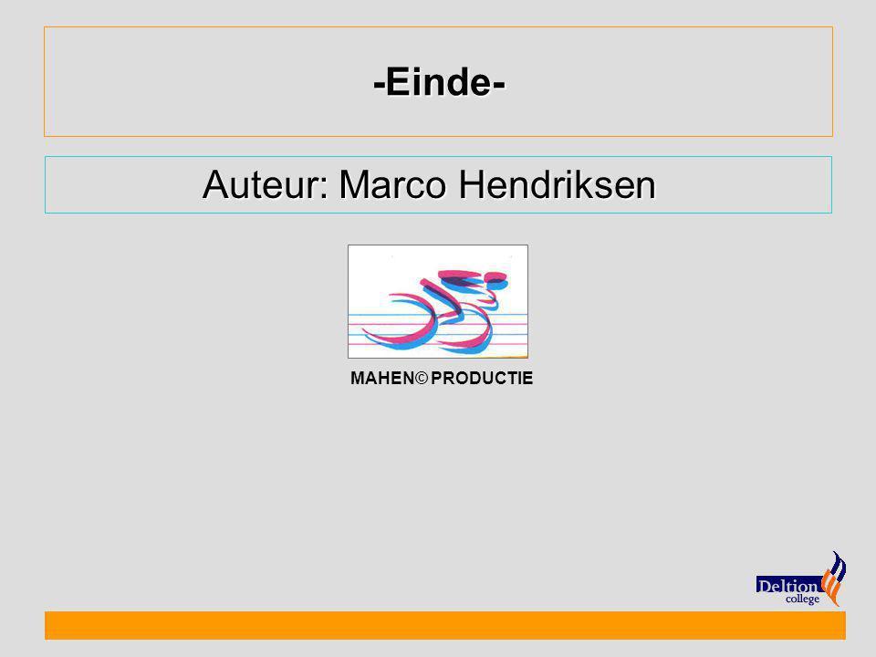 Auteur: Marco Hendriksen