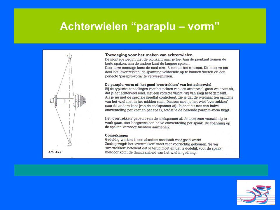 Achterwielen paraplu – vorm