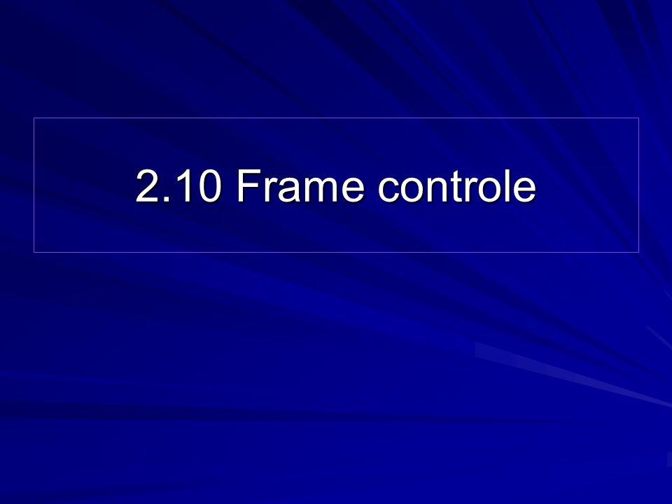 2.10 Frame controle