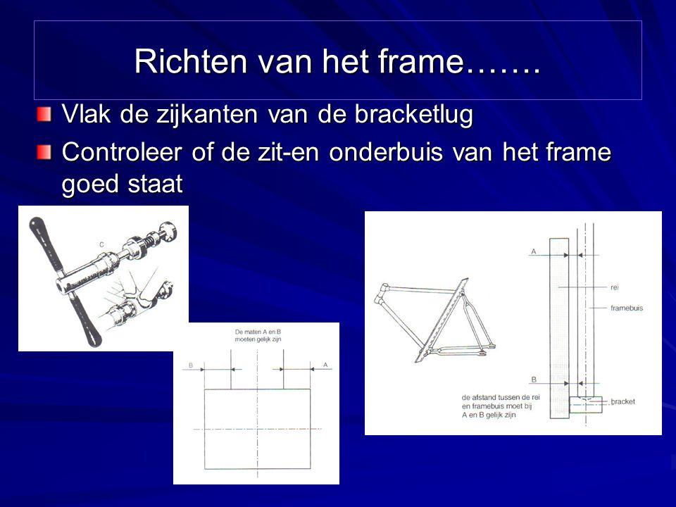 Richten van het frame…….