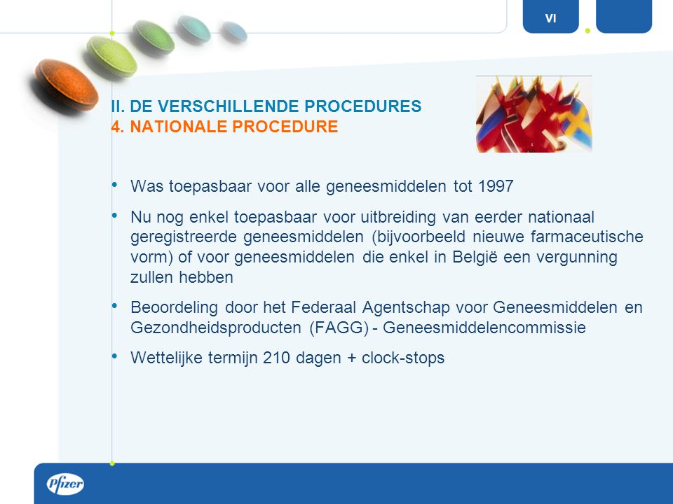 II. DE VERSCHILLENDE PROCEDURES 4. NATIONALE PROCEDURE