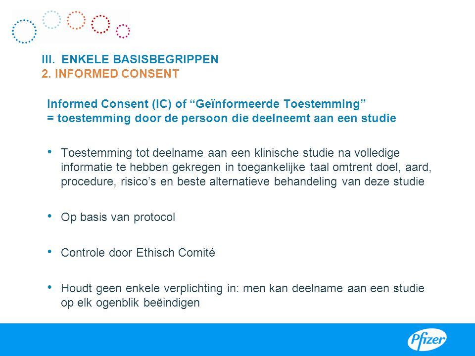 III. ENKELE BASISBEGRIPPEN 2. INFORMED CONSENT