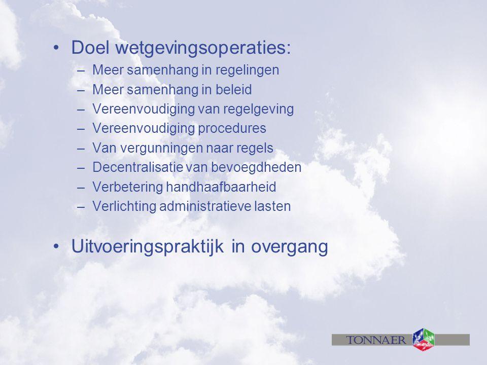 Doel wetgevingsoperaties: