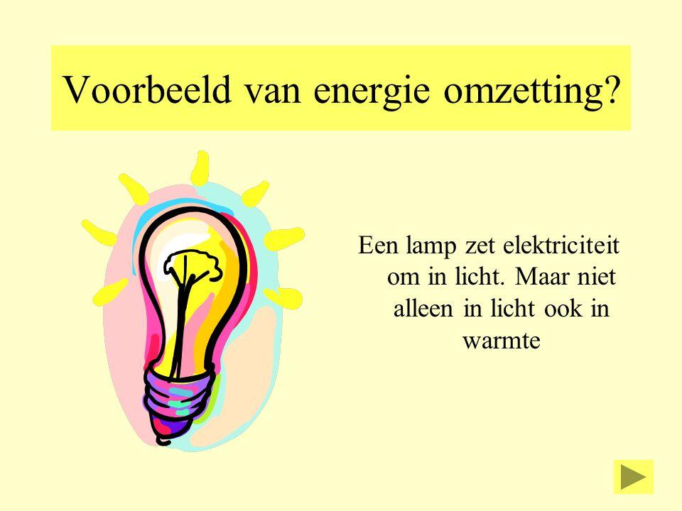 Voorbeeld van energie omzetting
