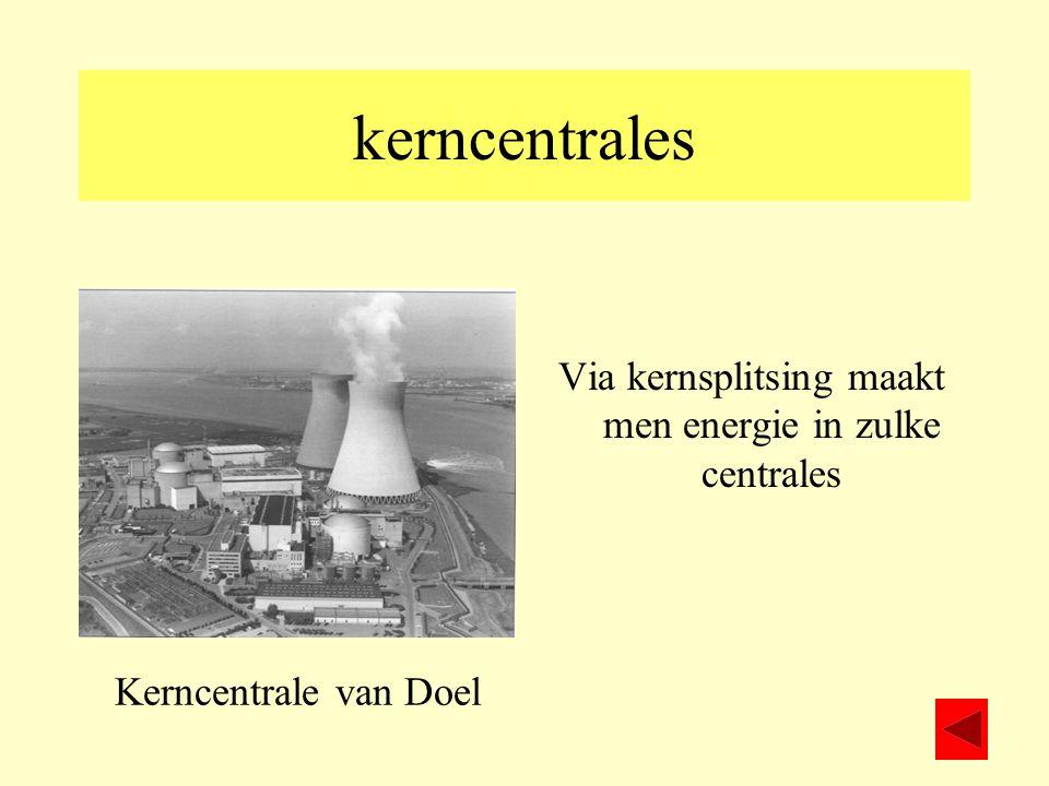 Via kernsplitsing maakt men energie in zulke centrales