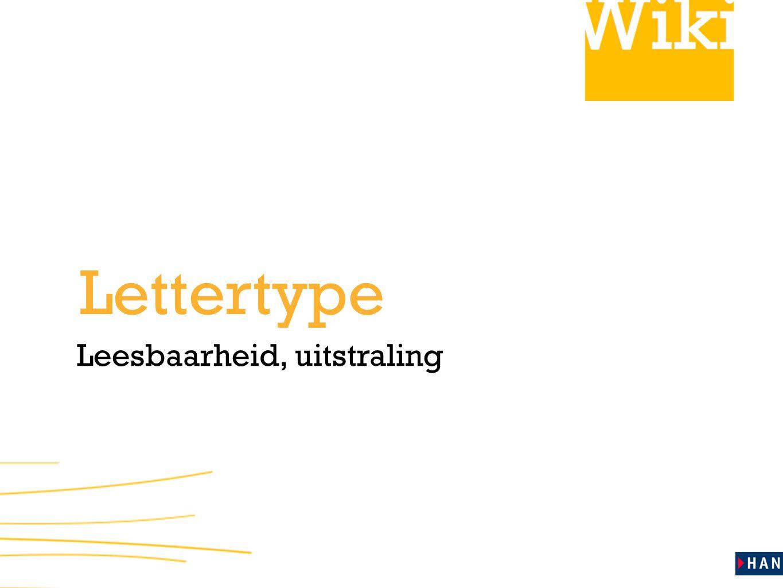 Lettertype Leesbaarheid, uitstraling