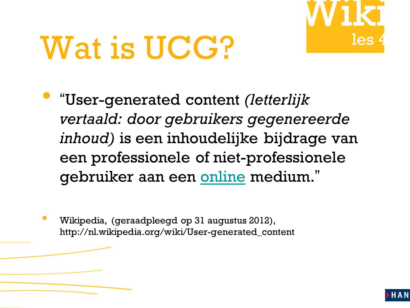 Wat is UCG