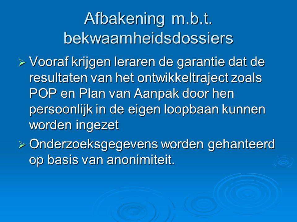 Afbakening m.b.t. bekwaamheidsdossiers