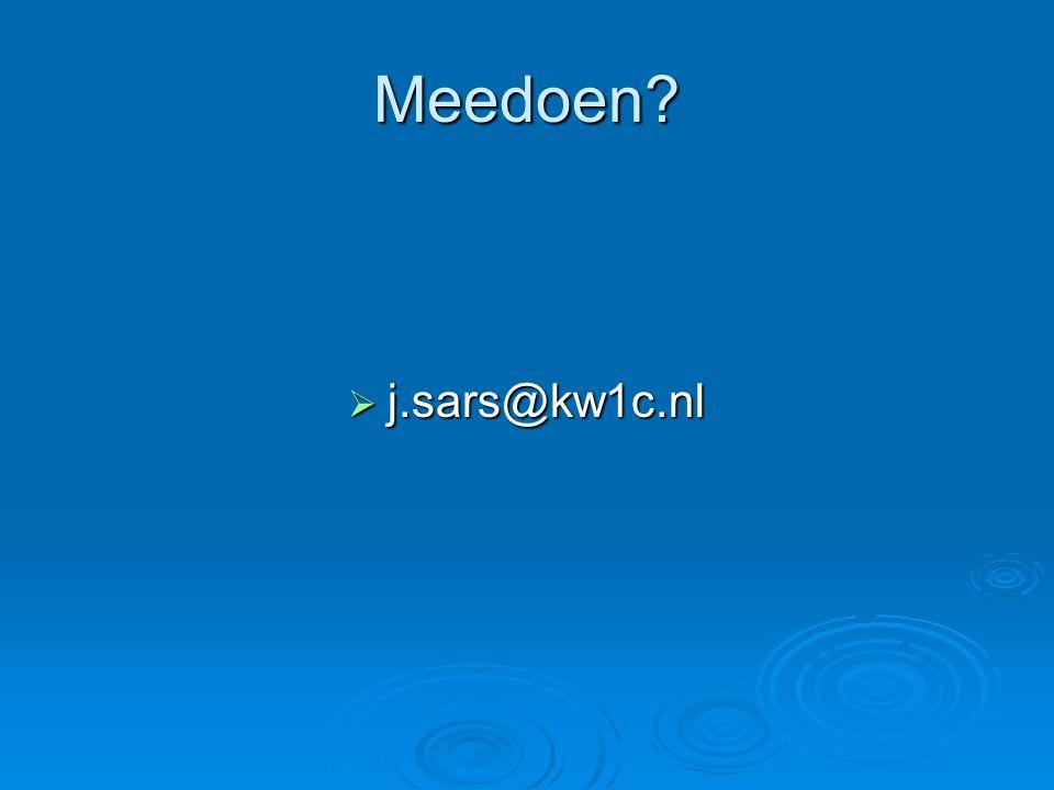 Meedoen j.sars@kw1c.nl