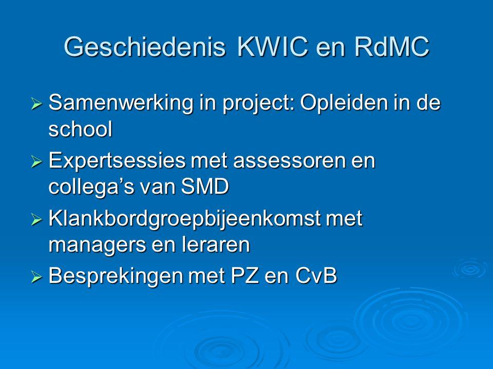 Geschiedenis KWIC en RdMC