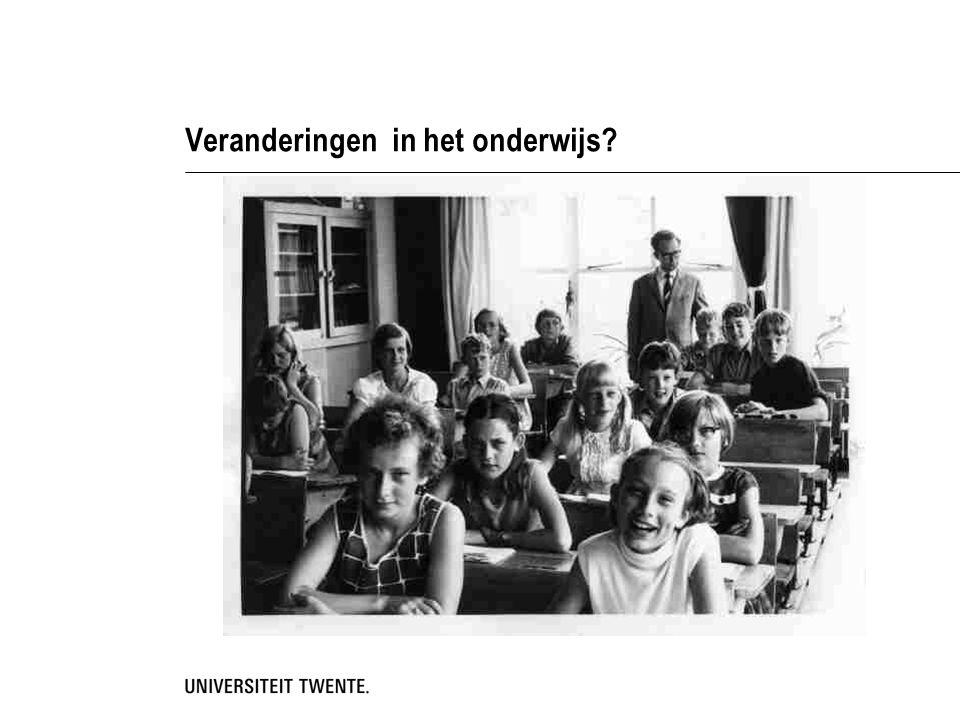 Veranderingen in het onderwijs