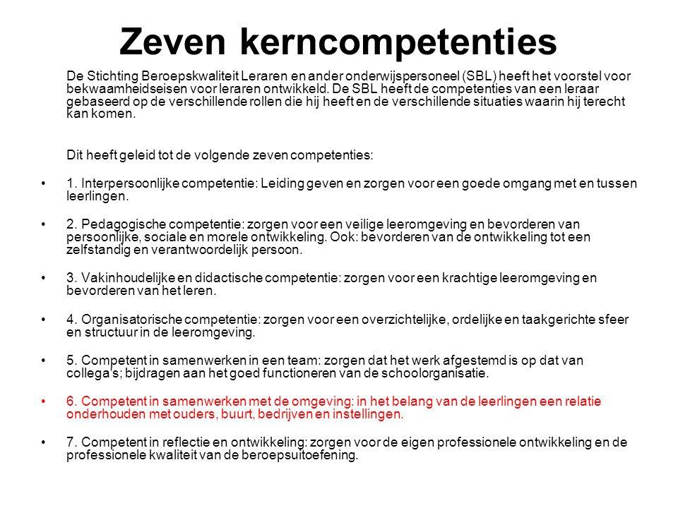 Zeven kerncompetenties