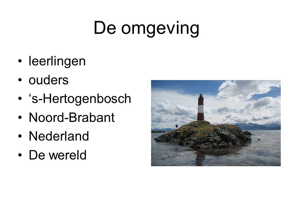 De omgeving leerlingen ouders 's-Hertogenbosch Noord-Brabant Nederland