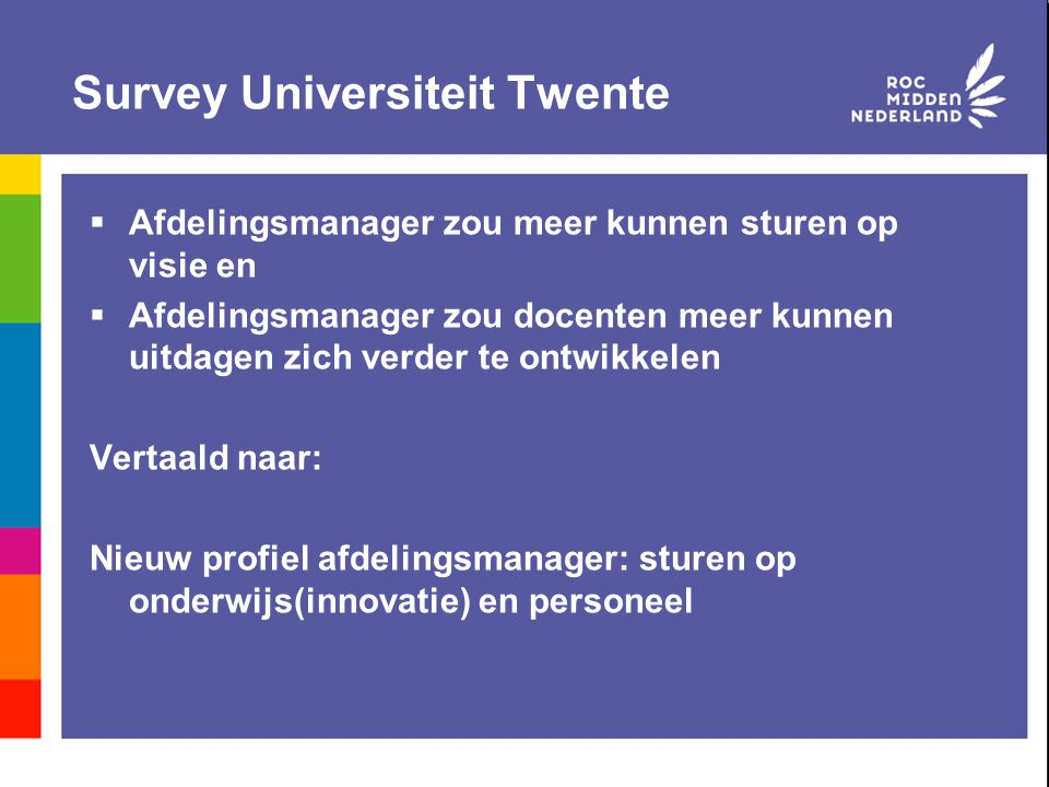Survey Universiteit Twente