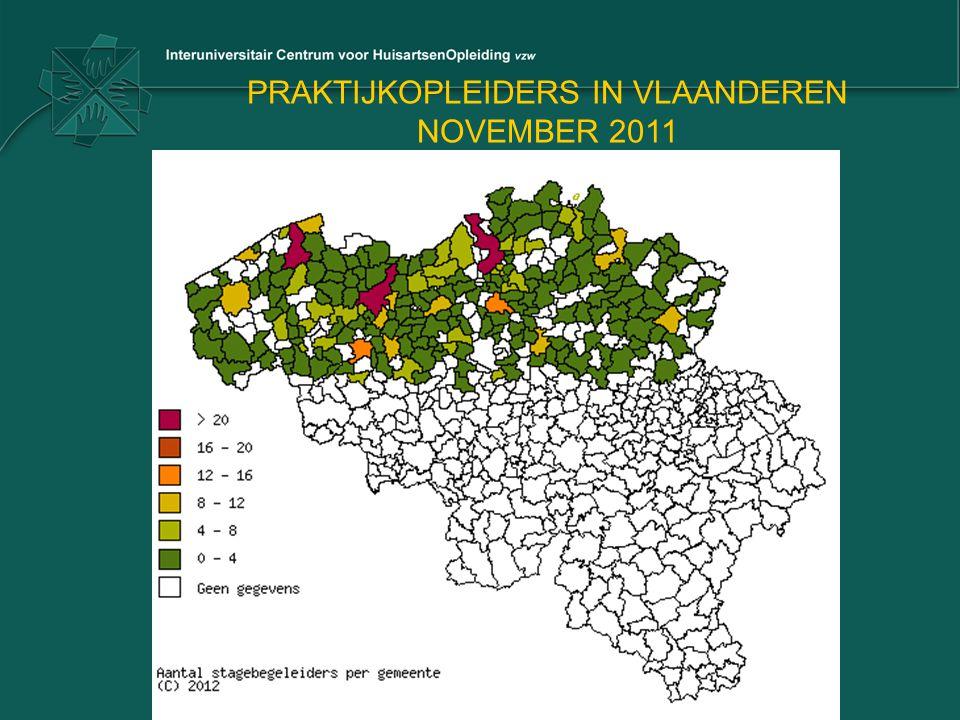 PRAKTIJKOPLEIDERS IN VLAANDEREN NOVEMBER 2011