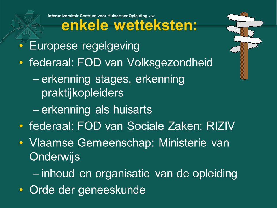enkele wetteksten: Europese regelgeving