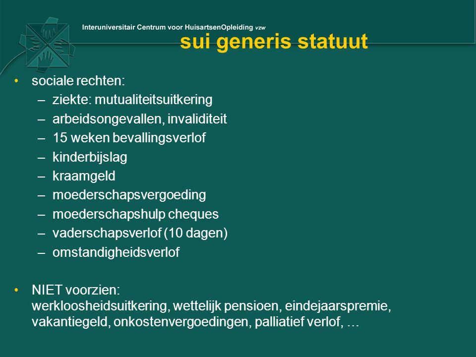 sui generis statuut sociale rechten: ziekte: mutualiteitsuitkering
