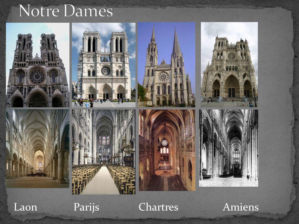 Notre Dames Laon Parijs Chartres Amiens