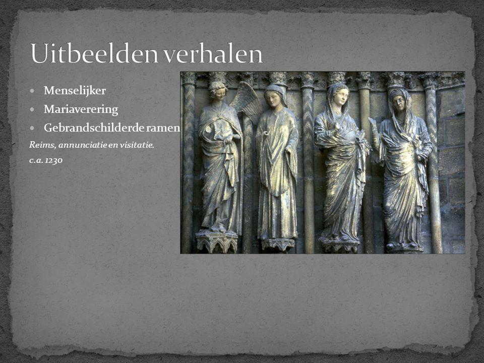 Uitbeelden verhalen Menselijker Mariaverering Gebrandschilderde ramen