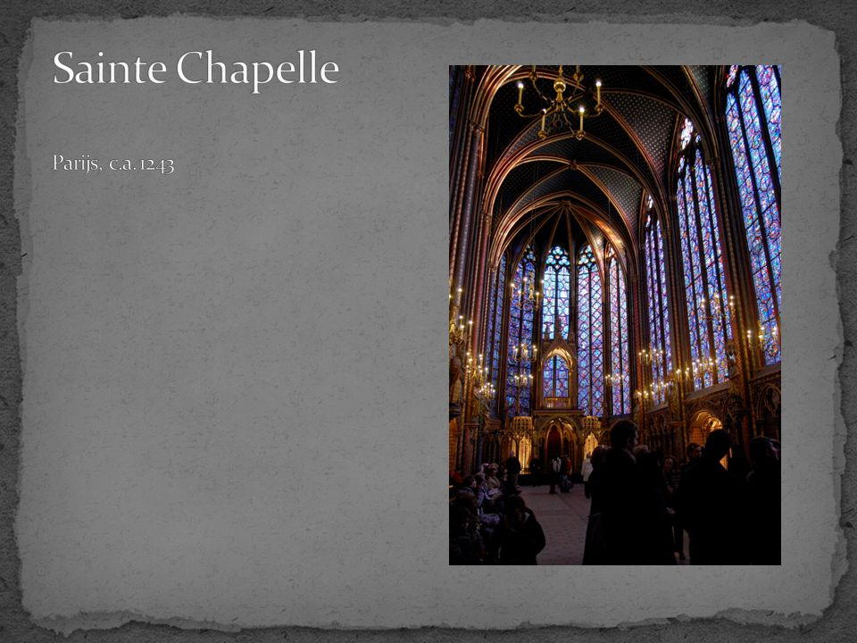 Sainte Chapelle Parijs, c.a. 1243