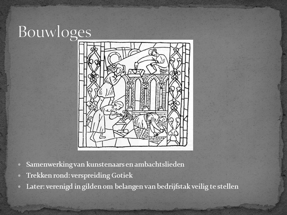 Bouwloges Samenwerking van kunstenaars en ambachtslieden