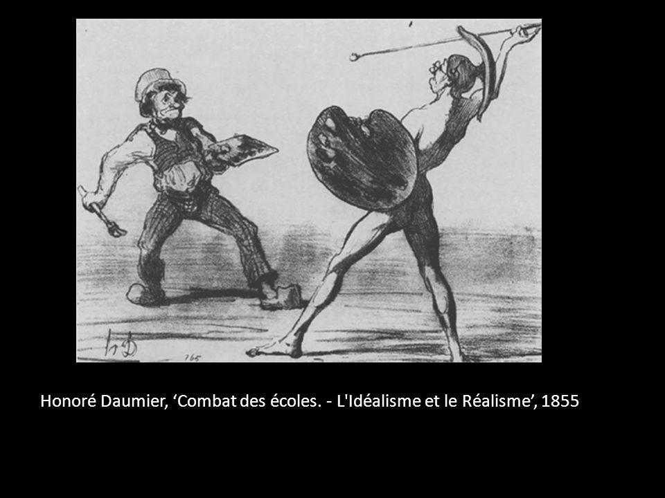 Honoré Daumier, 'Combat des écoles. - L Idéalisme et le Réalisme', 1855