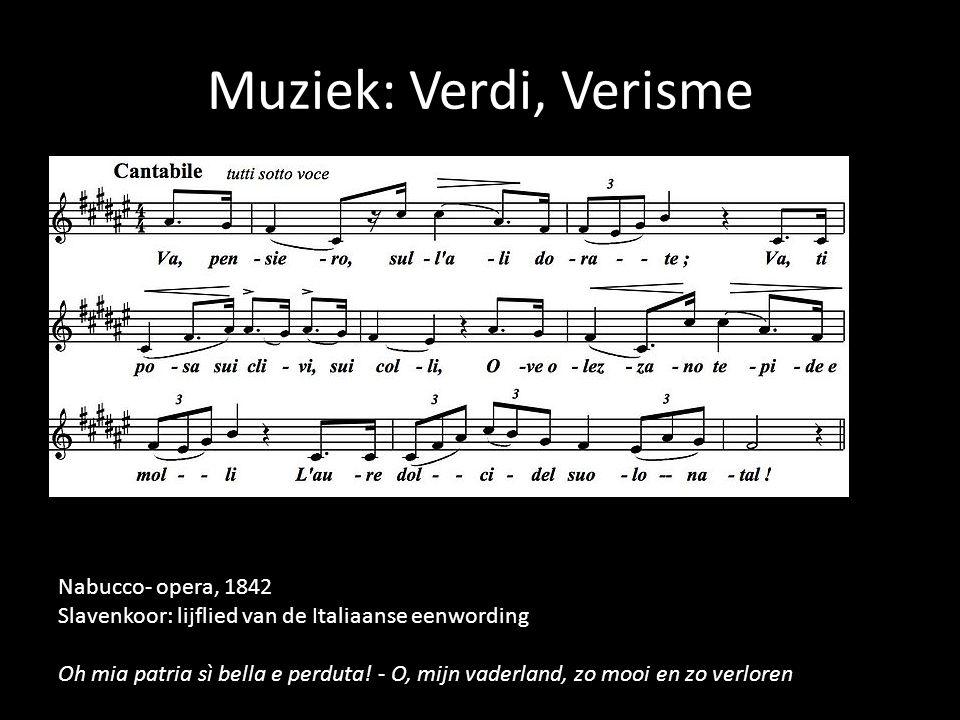 Muziek: Verdi, Verisme