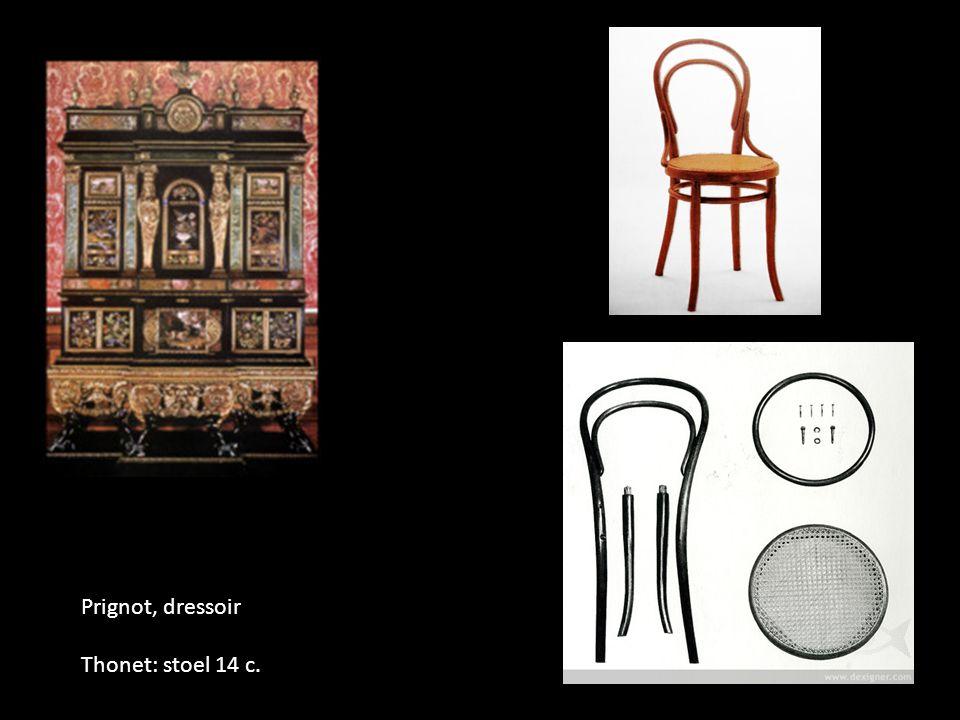 Prignot, dressoir Thonet: stoel 14 c.