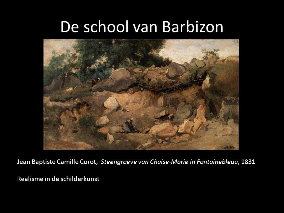 De school van Barbizon Jean Baptiste Camille Corot, Steengroeve van Chaise-Marie in Fontainebleau, 1831 Realisme in de schilderkunst
