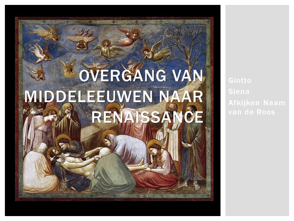 Overgang van middeleeuwen naar renaissance