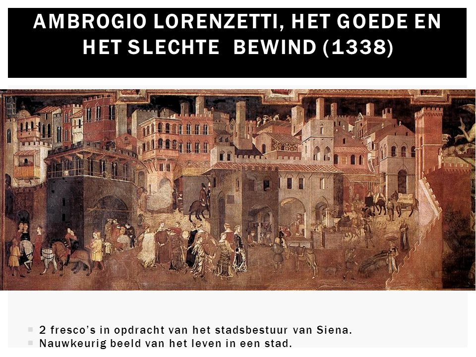 Ambrogio Lorenzetti, het goede en het slechte bewind (1338)
