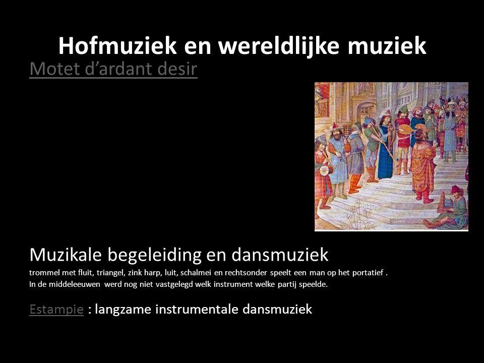 Hofmuziek en wereldlijke muziek