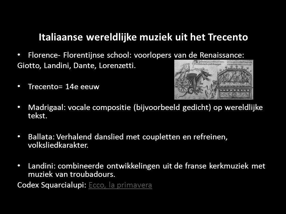 Italiaanse wereldlijke muziek uit het Trecento