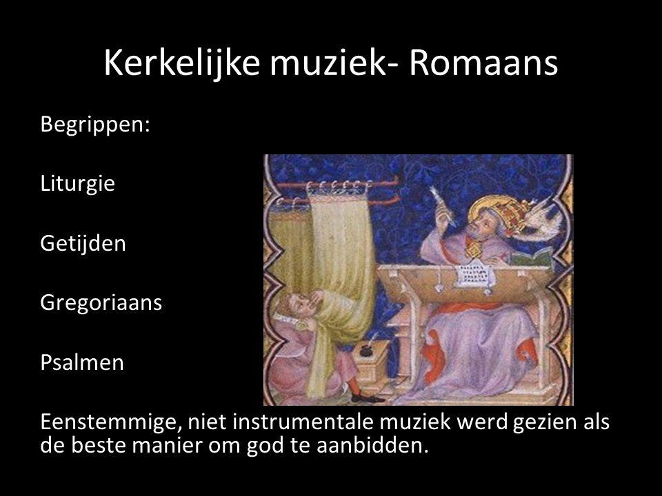 Kerkelijke muziek- Romaans