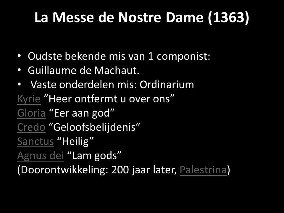 La Messe de Nostre Dame (1363)