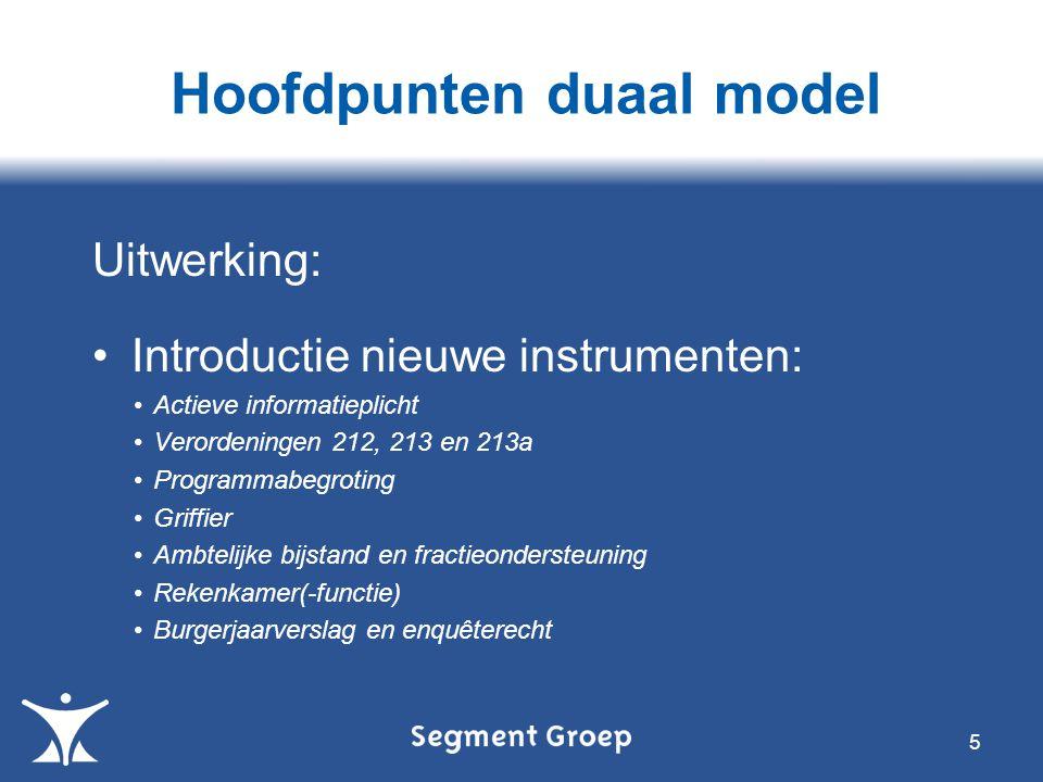 Hoofdpunten duaal model