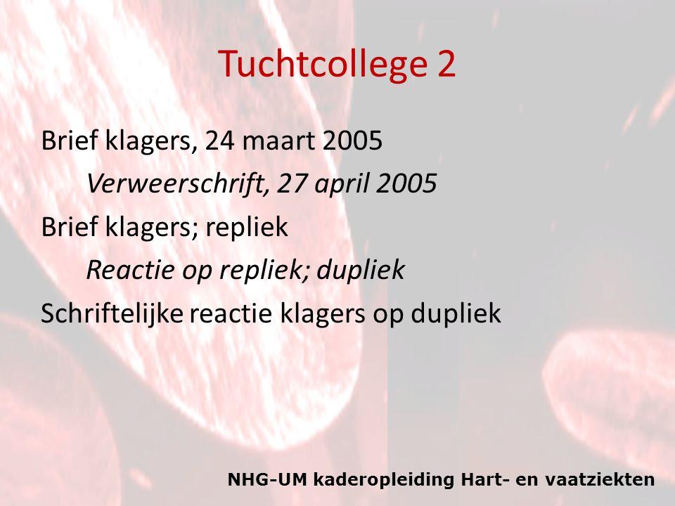 Tuchtcollege 2 Brief klagers, 24 maart 2005